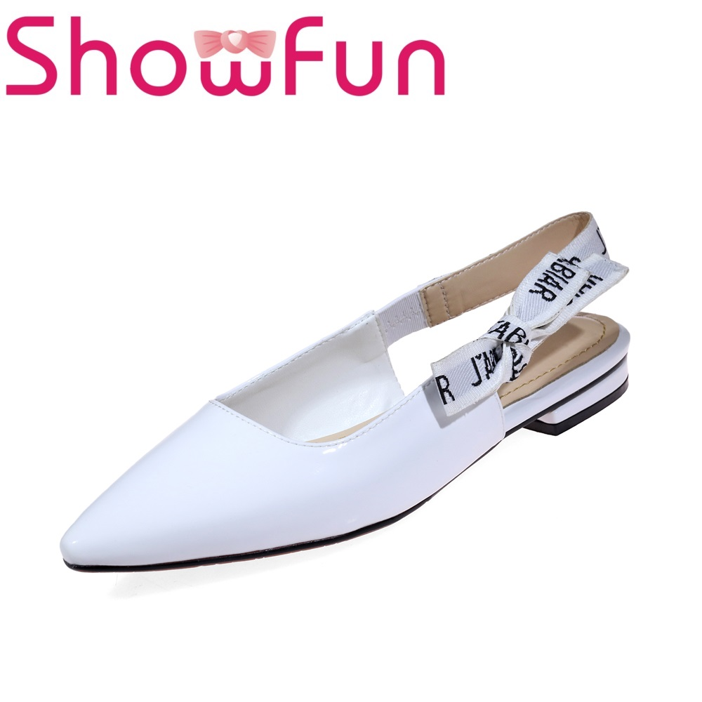 Showfun genuine leather shoes women solid office&career square heel sandals showfun 2018 genuine leather retro faux