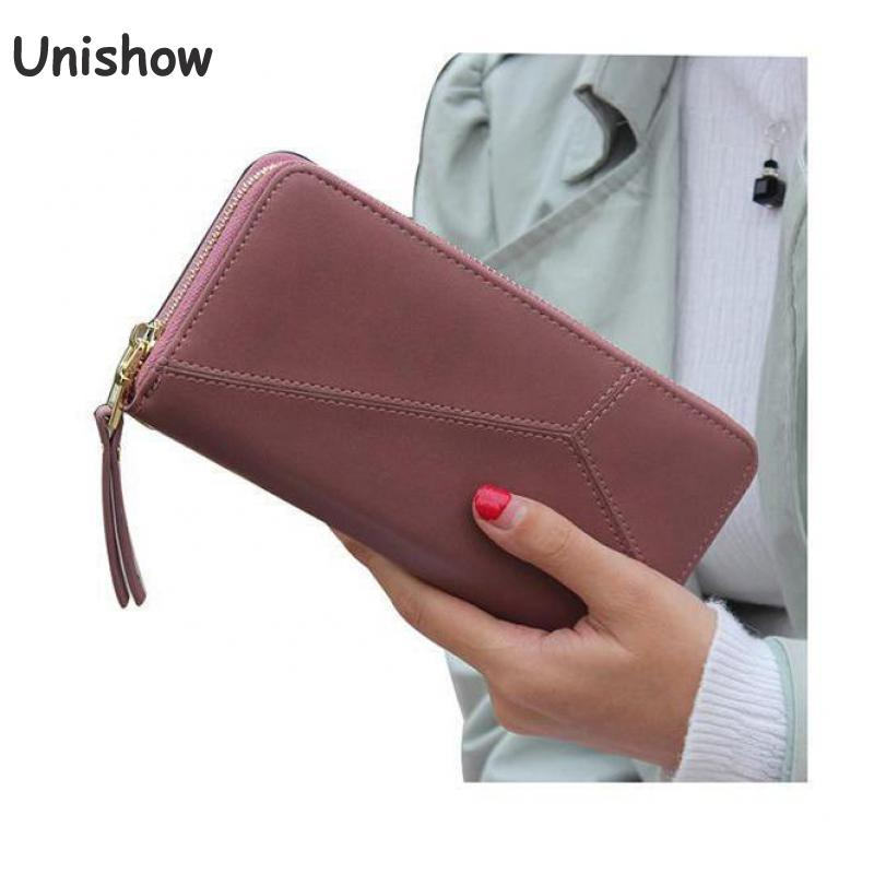 Geometric Wristband Women Wallet Female Long Zipper Women Purse Large Capacity Coin Wallet Purse Brand New Fashion Phone Clutch