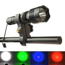 Hunting LED Flashlight Green Light 300 Meters Lighting Distance Tactical Lantern HS-802 + Remote Pressure Switch+ Gun Mount