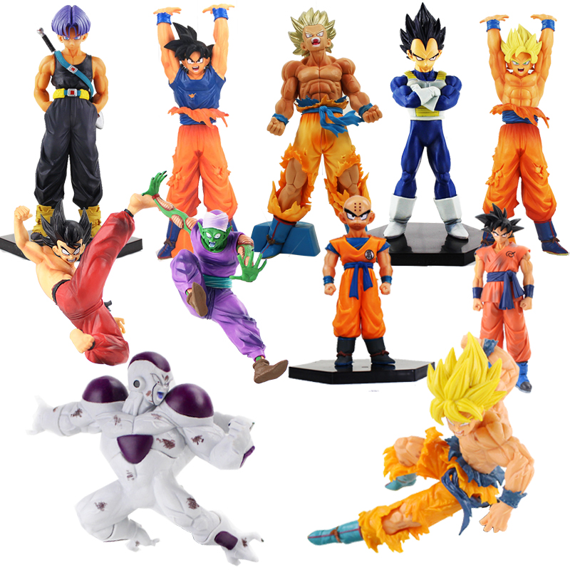 10-25cm Dragon Ball Z DXF Figures Trunks Vegeta Super Saiyan God Son Gokou Freeza Kuririn Collectible Model Toy Dragonball Dolls