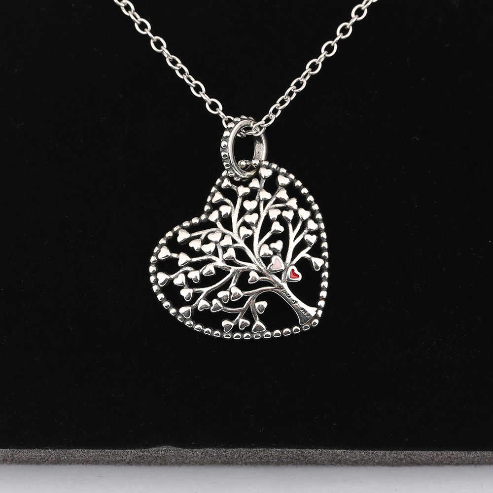 86cb1ffcb640b Authentic 925 Sterling Silver Bead Crystal Tree of Love Hanging ...