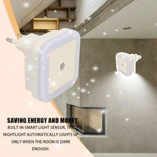 Smart Intelligent Plug-in Energy-saving LED Night Light Lamp with Dusk to Dawn Sensor Stairs Daylight White Energy-efficient(China)
