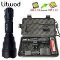 Litwod Z10C8 High Power tactical LED Taschenlampe XM L2 T6 U3 selbstverteidigung taschenlampe lanterna für Jagd Fahrrad licht lampe|LED-Taschenlampen|Licht & Beleuchtung -