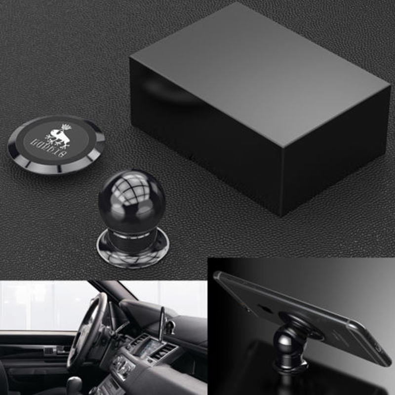 Luphie Universal Rotating <font><b>360</b></font> <font><b>Magnetic</b></font> Car Dashboard Mount Handsfree Mobile <font><b>Phone</b></font> <font><b>Holder</b></font> with Russia and US Commodity inventory