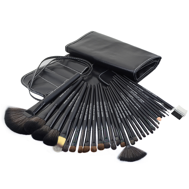 цены 32pcs black Professional makeup brushes set cosmetic brush kit case make up brush kits makeup beauty Face care tool for you