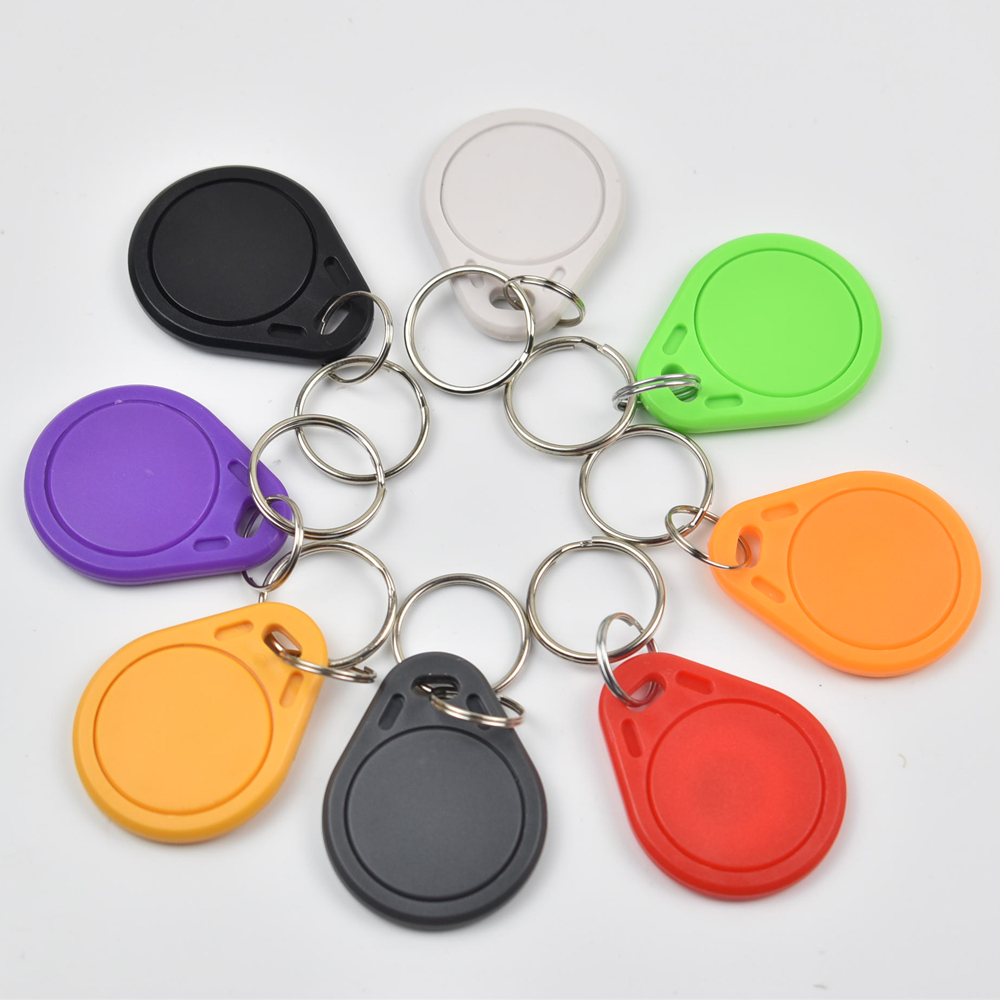 100pcs/bag RFID key fobs 125KHz EM4305 proximity ABS key tags readable and writable copy duplicator card tags access control usb 125khz em4100 rfid proximity reader 5 cards 5 key tags 5 dia card