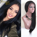Cheap 7A Glueless Lace Front Human Hair Wigs Silky Straight Virgin Malaysian Straight Full Lace Human Hair Wigs For Black Women