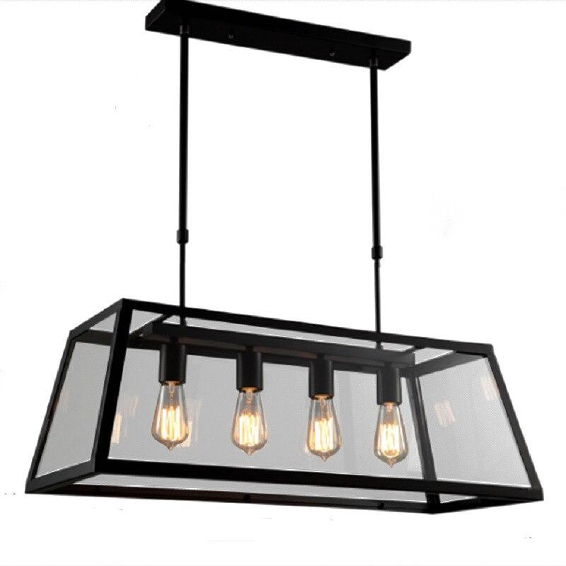 Design cuisine nordique industriel moderne Lampara Colgante De Techo Suspension Luminaire Suspendu Loft Suspension Suspension