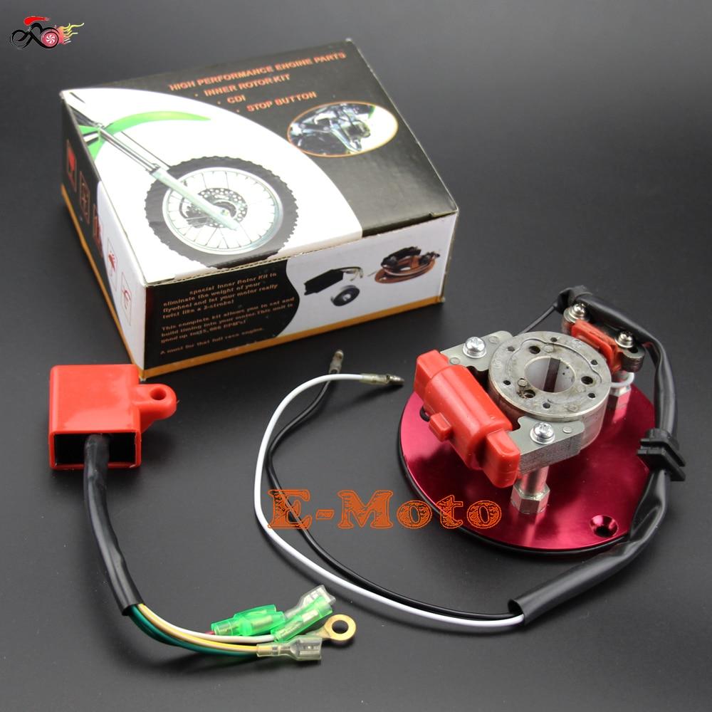 Tree-on-Life Magn/éto Stator /à 2 bobines pour 50cc 70cc 90cc 110cc 125cc Kick Start Dirt Bike ATV