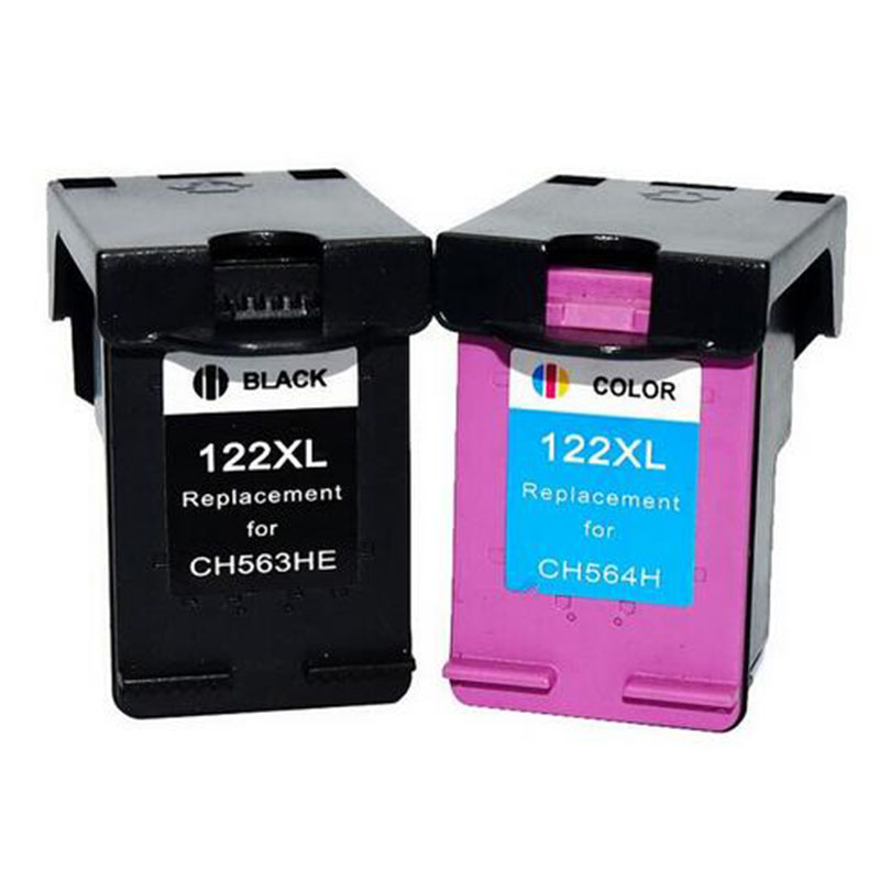 2Pack 122XL Ink Cartridge Replacement for HP Deskjet 1000 1050A 2000 2050 2050A 3000 3050 3050A 1510 Printer hwdid 122xl refilled ink cartridge replacement for hp 122 for deskjet 1000 1050 2000 2050s 3000 3050a 3052a 3054 1010 1510 2540