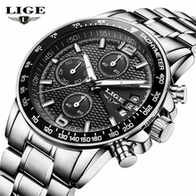 2019 LIGE Watches Men Luxury Brand Quart