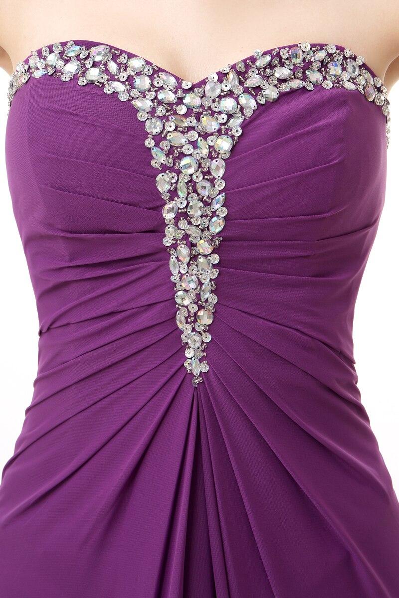 Forevergracedress Photos réelles violet longue robe de soirée Sexy sans manches en mousseline de soie perlée avec fente formelle robe de soirée grande taille - 4