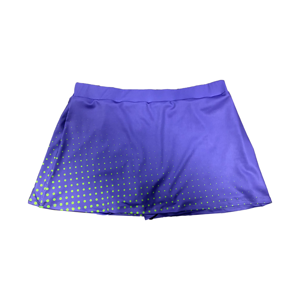 Tennis-skorts Sportbekleidung Verhindern Exposition Sonderabschnitt Anpassbare Muster Farbe Fluoreszierende Welle Punkt Gradienten Tennis Rock Shorts Sport-fitness Lauf