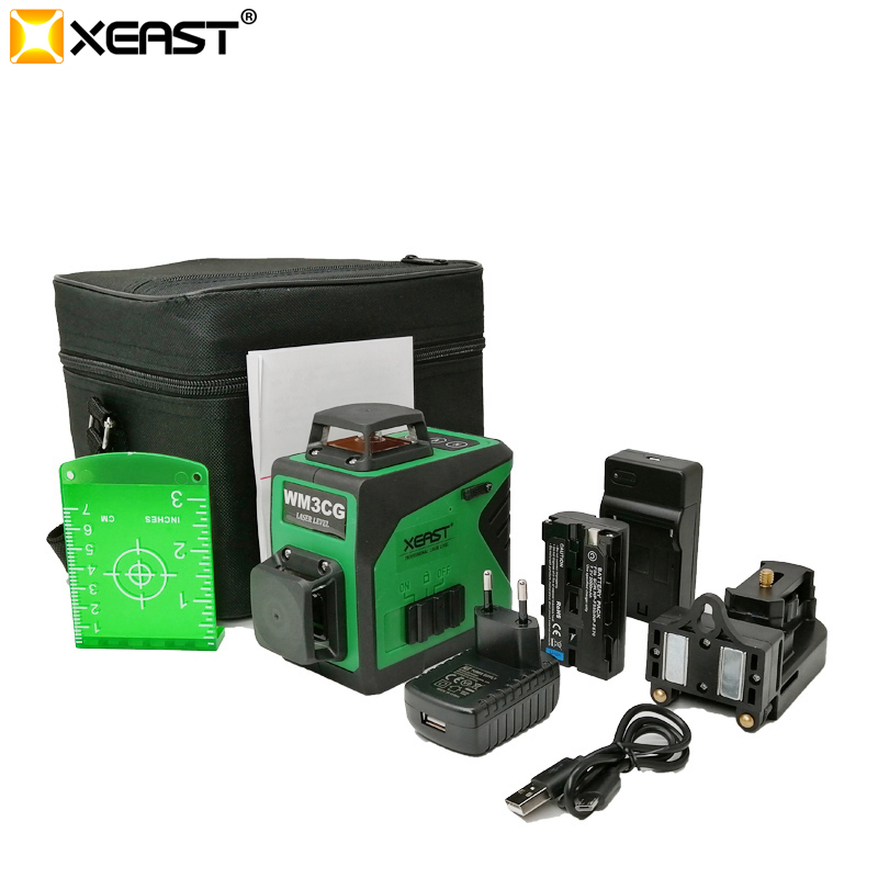 Xeast 2019 Professional 12 Line 3D laser level 360 Vertical And Horizontal Self leveling Cross Line