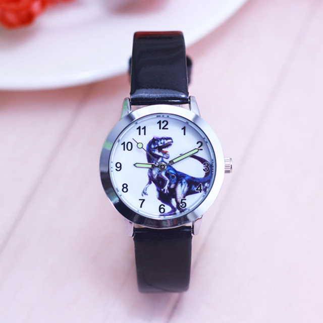 2018 high quality children boys dinosaur anime cartoon quartz watches little kid