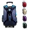 Новый детская школа рюкзак Mochila Infantil Bolsas водонепроницаемый троллейбус сумки школьников мешок с колесами 4 цветов