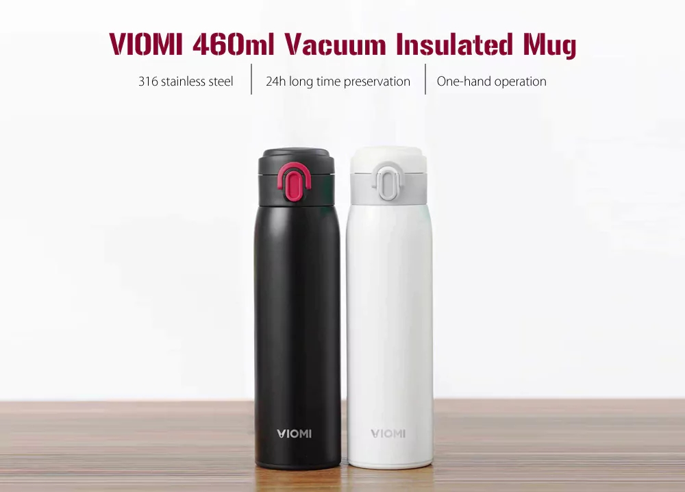 Xiaomi VIOMI Portable Vacuum Thermos 300ML460ML Lightweight Alloy Material 24 Hours Thermos Single Hand ONClose for coffee (10)