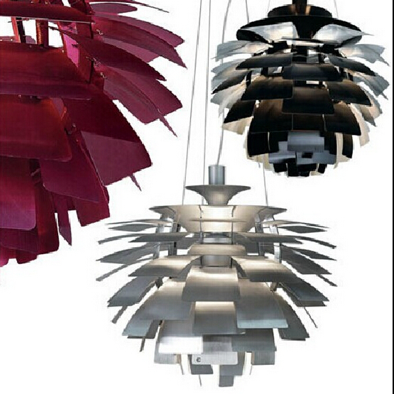 pendant lights shades D60CM Modern Italy Design PH5 Pinecone pendant light aluminum hanging lamps for dining room newest design wholesale price italy design by ferrucio laviani foscarini o space light pendant lights
