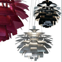 pendant lights shades D60CM Modern Italy Design inecone pendant light aluminum hanging lamps for dining room