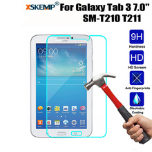 XSKEMP 9H Hardess Screen Protector For Samsung Galaxy Tab 3 7.0 T210 T211 Real Tempered Glass Film 0.3mm Tablet Screen Protector
