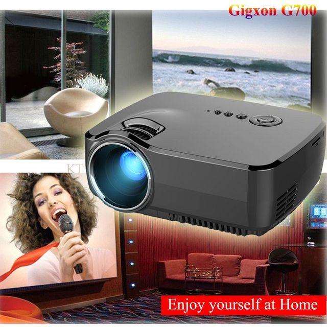 Free shipping!G700 Mini Home Cinema Theater Portable LED LCD Projector 1080P HD HDMI USB VGA