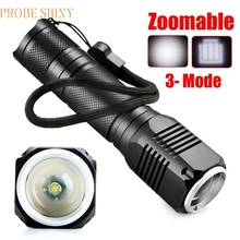 MA 21 Shining Fast Shipping LED Light 4000LM Zoomable CREE XML Q5 LED 18650 Flashlight Torch