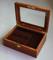 Роскошный оригинальный деревянные украшения организатор 6 ключ слот часы организатор деревянные ар часы ящик для хранения деревянная коро