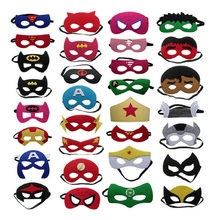 10pcs/lot Kids Adult Cosplay Party Mask Avengers Superhero Mask Ironman Star Wars Deadpool Hulk Spiderman Batman Halloween mask