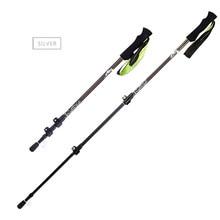1pc Ultralight Trekking Poles Folding Nordic Walking Carbon Fiber walking sticks with Absorbing EVA Grips