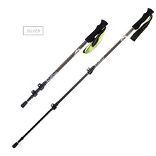1pc Ultralight Trekking Poles Folding Nordic Walking Poles Carbon Fiber Trekking walking sticks with Absorbing EVA Grips