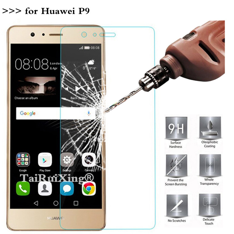Tempered Glass For Huawei P9 Screen Protector 2.5D 0.26mm 9H Protection Film For Huawei P9 Tempered Glass