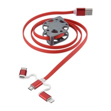 For Micro(USB 2.0) Universal 3 IN 1 USB Cable Charging Cable for IOS and Android Data Line For iPhone5 5S 6 6S 7 7 Plus