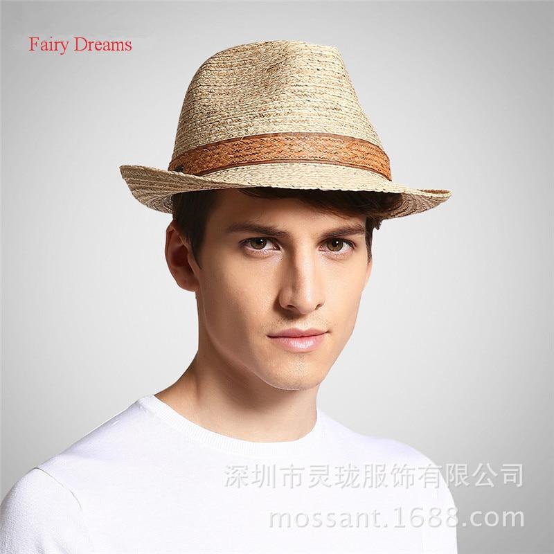 Fairy Dreams Men Lafite Straw Hat Adult Unisex <font><b>Chapeu</b></font> Masculino Summer Sun Hats Gorra Hombre Fedora Vintage Cap 2017 New Style
