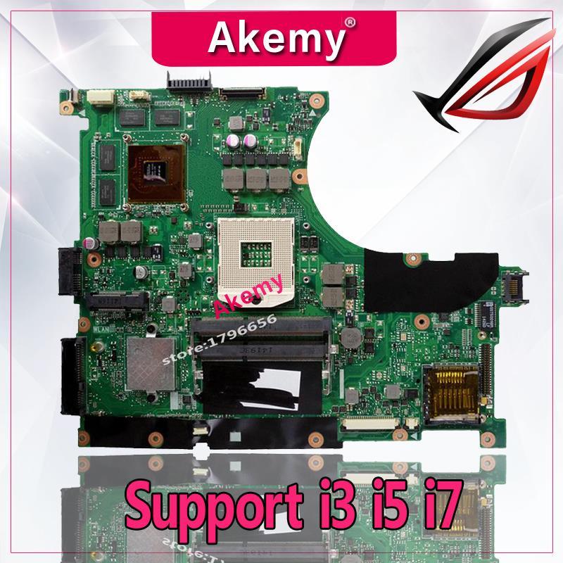 Akemy N56VZ N56VM Laptop motherboard for ASUS N56VB N56VM N56VZ N56VJ N56V Test original mainboard GT650M