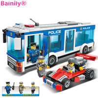 Bainily 256Pcs Police Station Building Blocks Bricks Educational Toys Birthday Gift Toy For Boy Compatible