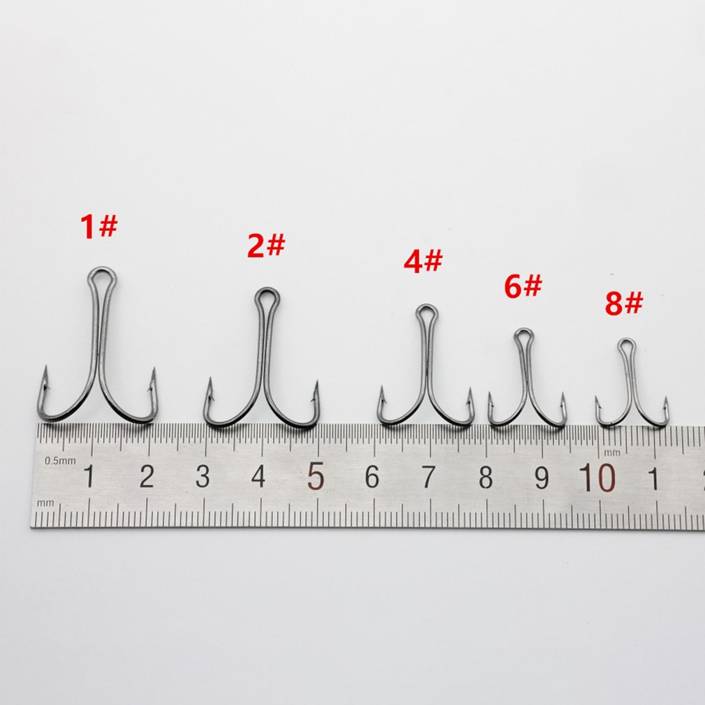 20PCS/SET Durable Use Carbon Steel Fishing Hooks Crank Hook Fly Tying Double Hook For Lure Fishing Accessories Dropshipping