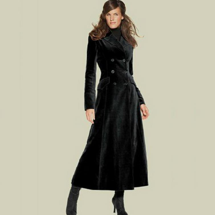 Fashion hot SELL  slim long cashmere overcoat trench