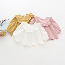 2017 Autumn New Arrived Baby Girl Shirt Toddler Ruffles Latern Sleeve Girls Tops Princess Cute Vintage Style Blouse for Girl