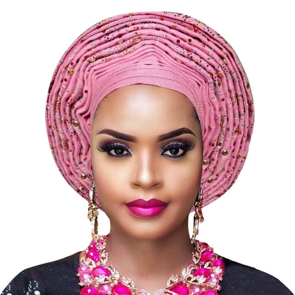 Aso oke gele african headtie nigerian headtie auto gele women headwrap lady wedding turban (8)
