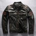 2016 Harley стиль мужской мотоцикл кожаная куртка черная мода moto байкер куртки мужчины с защитным оборудованием кожаное пальто мужчины