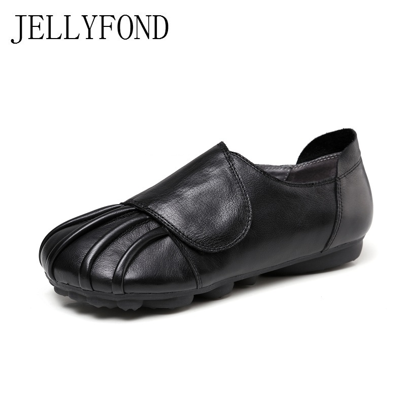 2017 Handmade Women Casual Loafers Genuine Leather Round Toes Women Comfortable Flats Designer Vintage Shoes Woman Plus Size new brand men loafers genuine leather england designer business casual shoes classical male driving flats handmade moccasins