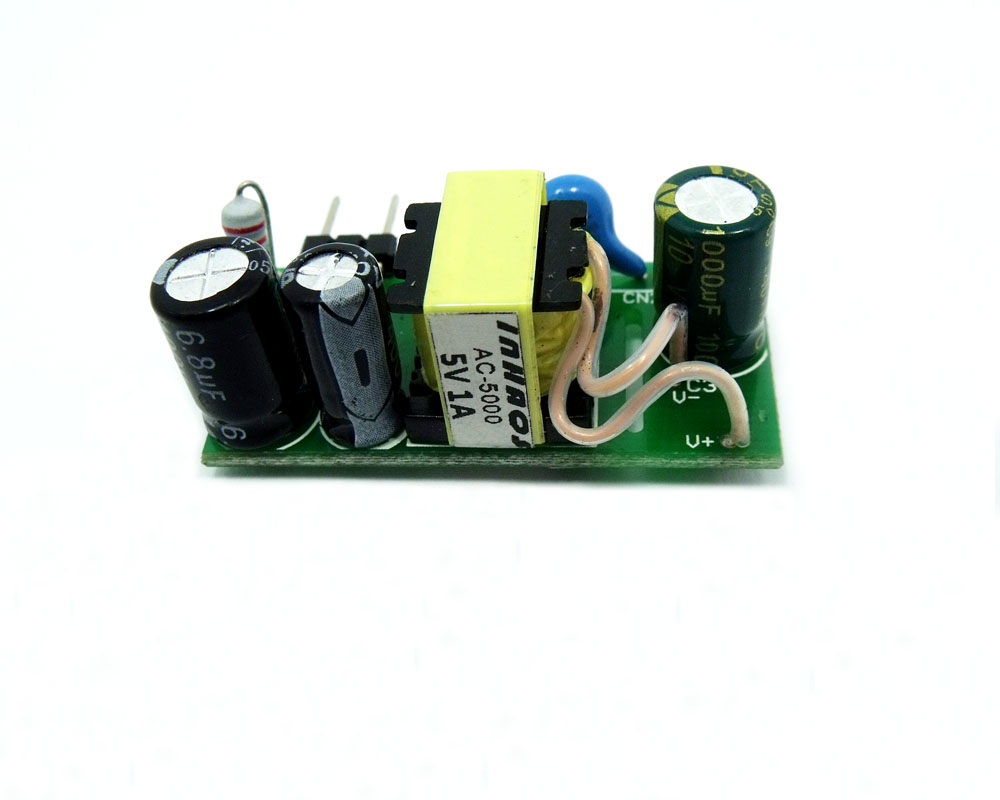 2xAC-5000-12V AC DC 85-265V DC Switching Power Supply Module 5V 0.5A 5W for IoT 86 Switch Case Touch Switch Embedded ARM STM32