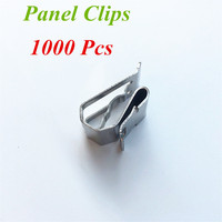 1000Pcs X Solar Panel Clips Project Materials Wire Management For PV Cable 304 Stainless Steel Materials