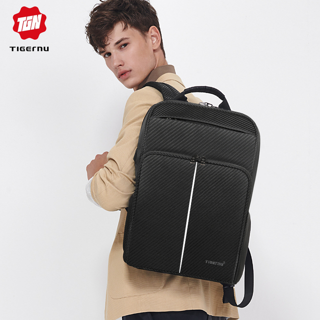 Tigernu 2019 New Classic Backpack Men High Quality Waterproof 15.6 inch Anti theft Laptop Backpack Fashion With 4.0 USB Charging 4