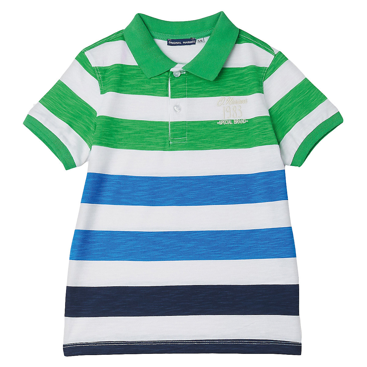 T-Shirts ORIGINAL MARINES 10830458 Children sClothing T-shirt with short sleeves polo shirt for boys and girls girls lace trim contrast ruffle hem striped t shirt