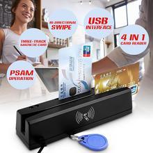 Heißer ZCS160 4 in 1 Schwarz 8K Magnetische Streifen Kreditkarte EMV IC Chip RFID PSAM Reader Schriftsteller 2-in-1Multi-Function kartenleser