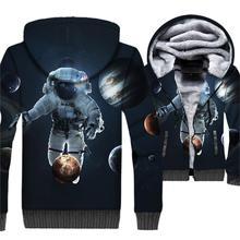 Space Galaxy Anime Hoodies Winter Thick Man Coat Hip Hop Unisex Zipper Jackets Harajuku 3D Astronaut Hoodie Streetwear Tracksuit