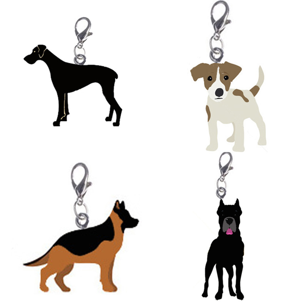 200 pcs/lot Puppy Neck Pendant Key Rings Pet Dog Tag Enamel Collar Keychain Necklace Disk pet jewelry dog tag