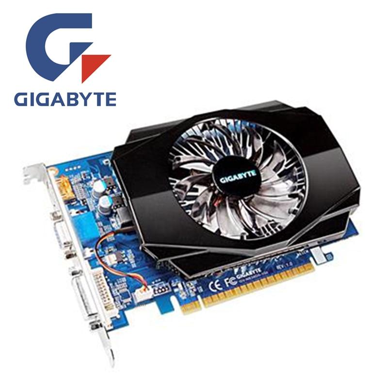 GIGABYTE GT630 1 GB Vidéo Carte GV-N630-1GI D3 128Bit Graphique GDDR3 cartes pour nVIDIA Geforce GT 630 HDMI Dvi VGA Utilisé cartes