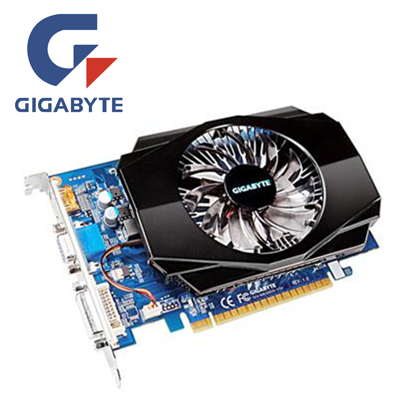 GIGABYTE GT630 1GB Video Card GV N630 1GI D3 128Bit GDDR3 Graphics Cards for nVIDIA Geforce GT 630 HDMI Dvi Used VGA Cards